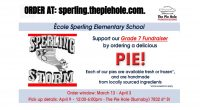 Support our Grade 7 Fundraiser by ordering a delicious pie from The Pie Hole. Sperling families are able to order pies to support our Grade 7 Fundraiser until Monday, April […]